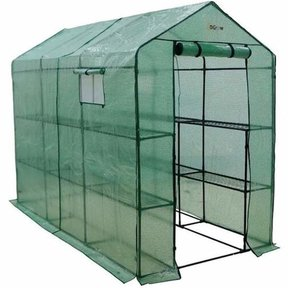 Extra Large Heavy Duty WALK-IN - 2 Tier, 12 Shelf Portable Greenhouse
