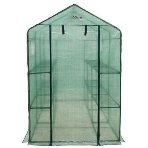 View a Larger Image of Extra Large Heavy Duty WALK-IN - 2 Tier, 12 Shelf Portable Greenhouse