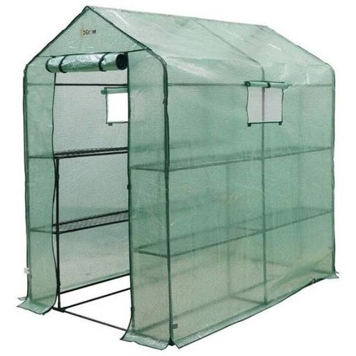 View a Larger Image of Large Heavy Duty WALK-IN - 2 Tier, 8 Shelf Portable Greenhouse