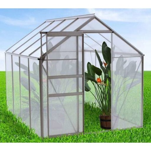 View a Larger Image of WALK-IN - 6' X 8' Greenhouse with Heavy Duty Aluminum Frame