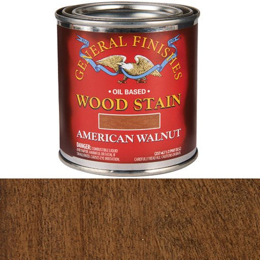 View a Larger Image of Oil Based Stain, American Walnut, 1/2 Pint