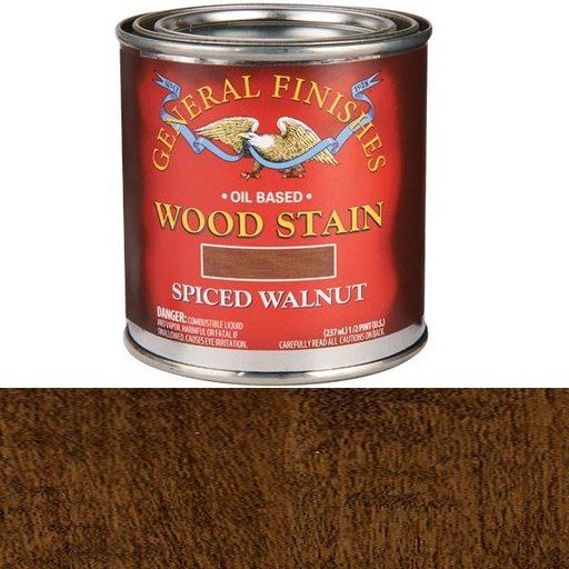 View a Larger Image of Spiced Walnut Stain Solvent Based 1/2 Pint