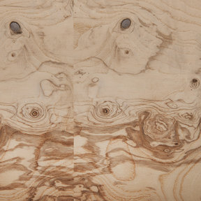 Olive Ash Burl Veneer Sheet 4' x 8' 2-Ply Wood on Wood
