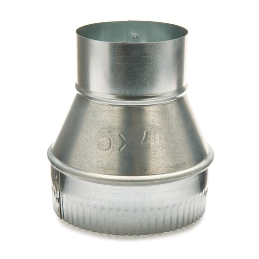 """View a Larger Image of Metal 6"""" to 4"""" Reducer Dust Collection Fitting"""
