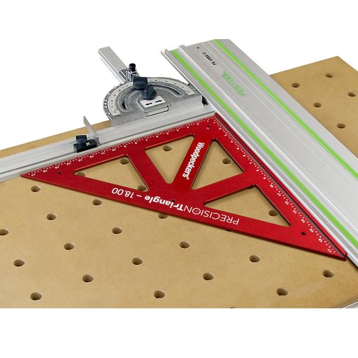 "View a Larger Image of OneTime Tool 12"" and 18"" Precision Triangles with Case"