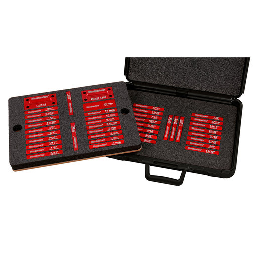 View a Larger Image of OneTIME Tool 42-Piece Jumbo DeluxeSetup Blocks Set WPK Case