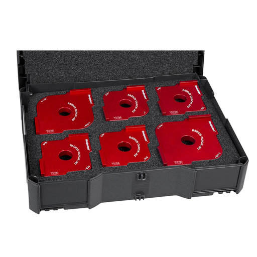 View a Larger Image of OneTIME Tool 6-Piece Radius Quick Jig Set in Systainer Case