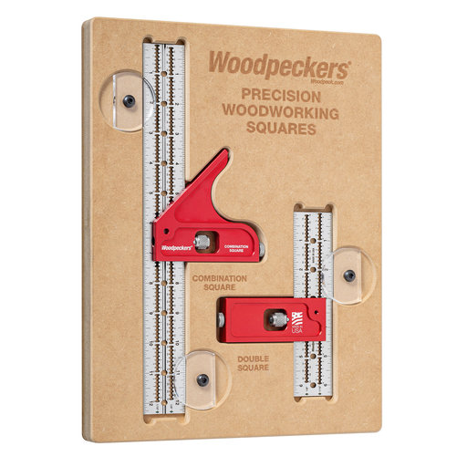 View a Larger Image of OneTime Tool Combination Square + Double Square Standard Set in MDF Case