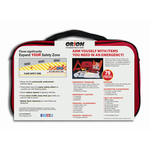 View a Larger Image of Deluxe Roadside Emergency Kit