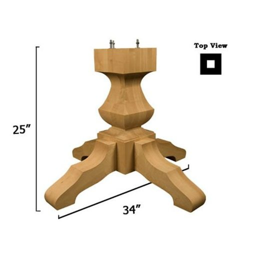 View a Larger Image of Red Oak Transitional Table Pedestal Base Kit, Model 1175O
