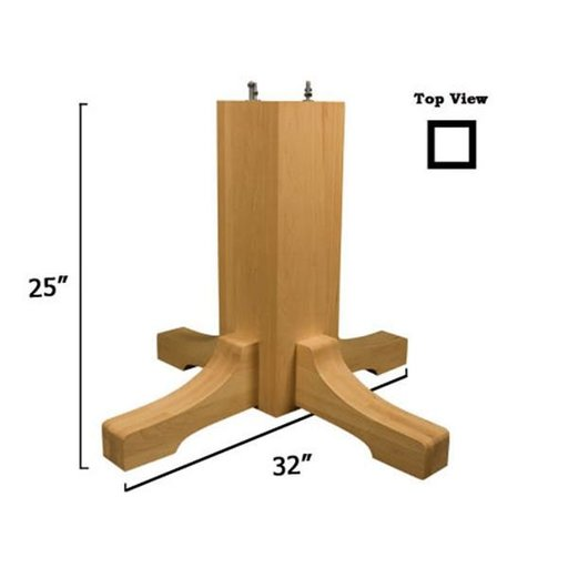 View a Larger Image of Soft Maple Mission Table Pedestal Base Kit, Model 1172M
