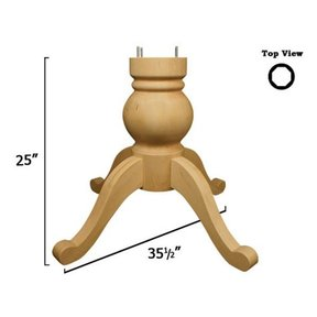 Soft Maple Shallowford Table Pedestal Kit, Model 1158M