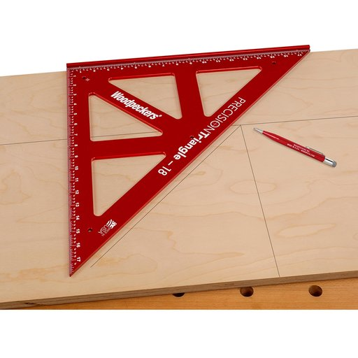 "View a Larger Image of OneTime Tool 18"" PRECISION TRIANGLE - WITH CASE"
