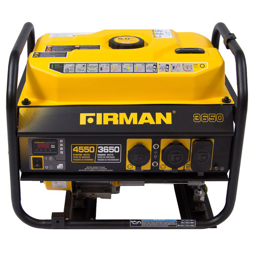 View a Larger Image of P03601 Gas Powered 3650/4550 Watt Portable Generator
