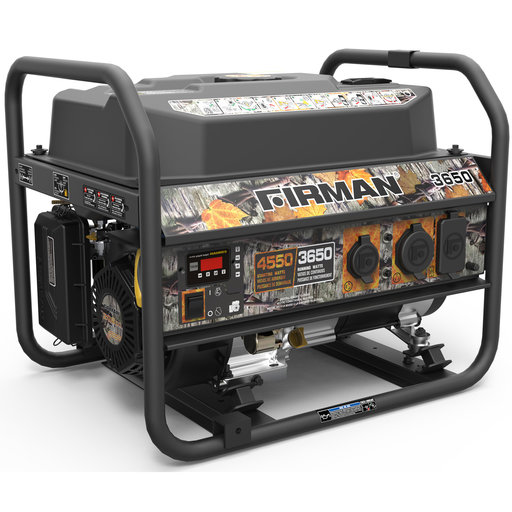 View a Larger Image of P03609 Gas Powered 3650/4550 Watt Portable Generator- Camo Edition