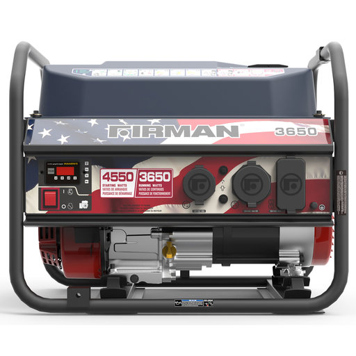 View a Larger Image of P03611 Gas Powered 3650/4550 Watt Portable Generator- Red, White, And Blue Edition