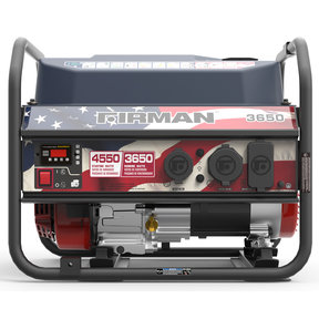 P03611 Gas Powered 3650/4550 Watt Portable Generator- Red, White, And Blue Edition