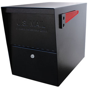 Package Master Locking Security Mailbox, Black