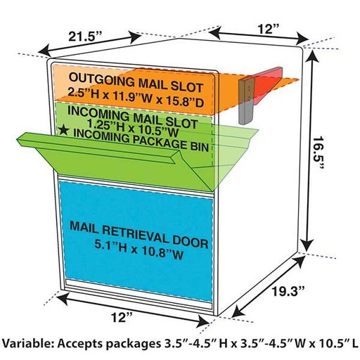 View a Larger Image of Package Master Locking Security Mailbox, Bronze Copper