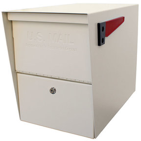 Package Master Locking Security Mailbox, White