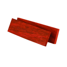 "Padauk 3/8"" x 1-1/2"" x 5"" Wood Knife Scale 2pc"
