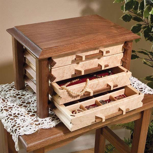 View a Larger Image of Pagoda-Style Jewelry Box - Paper Plan