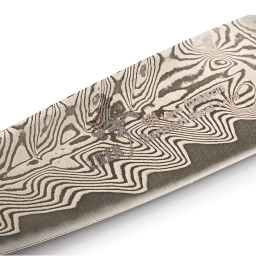 "View a Larger Image of Paring 101-Layer German Damascus Steel Knife Blank 3-5/8"" L x 5/32"" T (91mm x 2.0mm)"