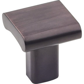 "Park Knob 1"" O.L., Brushed Oil Rubbed Bronze"