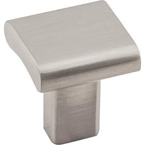 "Park Knob 1"" O.L., Satin Nickel"