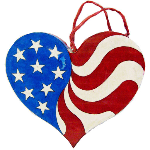 View a Larger Image of Patriotic Heart  Woodworking Pattern and Picture