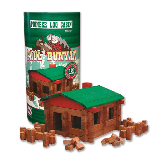 View a Larger Image of Paul Bunyan Log Cabin  100 pc Set
