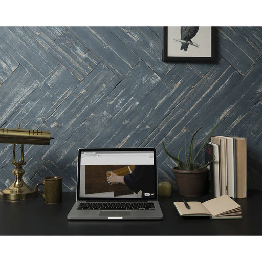 View a Larger Image of Peel & Press Real Wood Wall Paneling, Blue Ocean