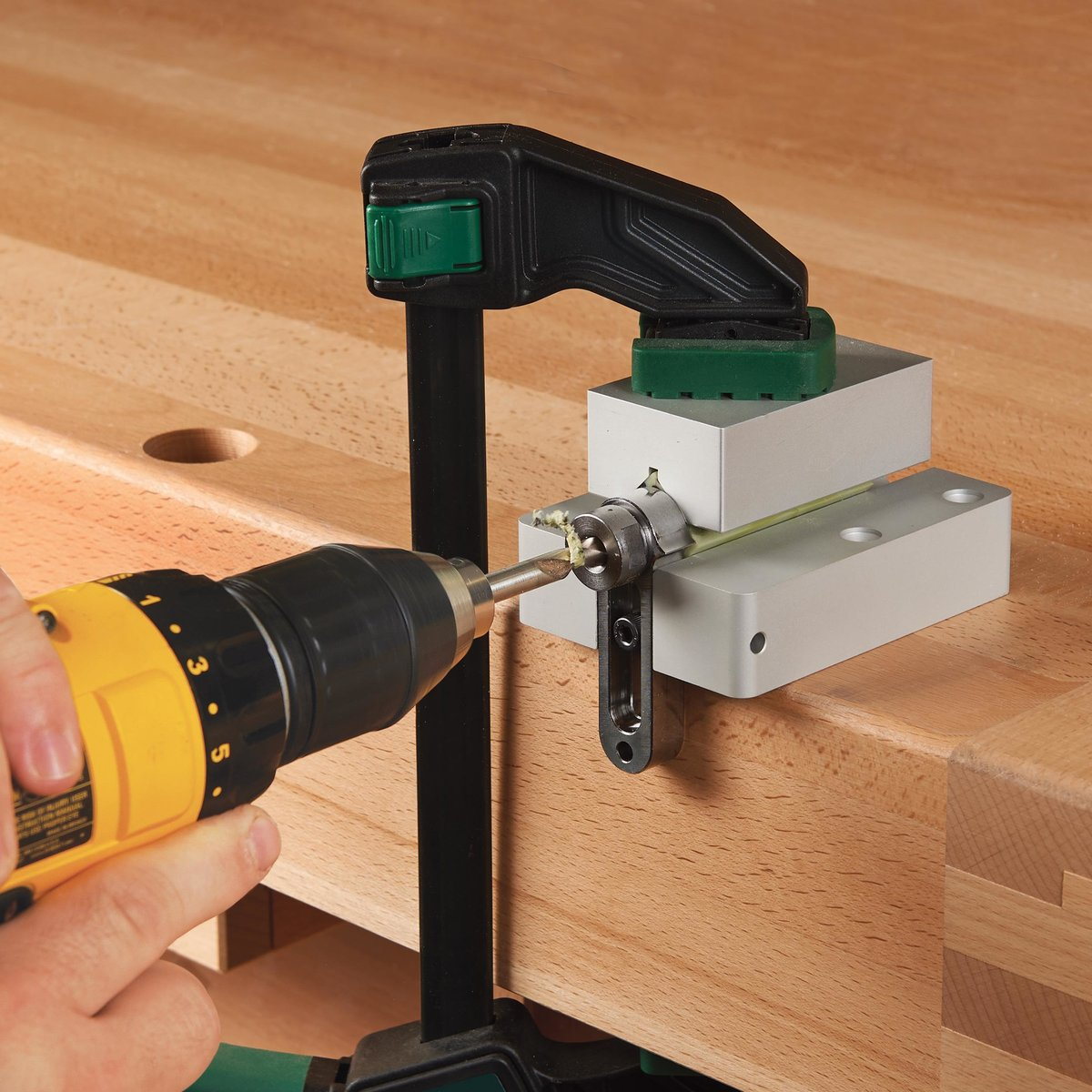10mm Drilling Guide & Stop Collar for WoodRiver DV2 Power & Hand ...