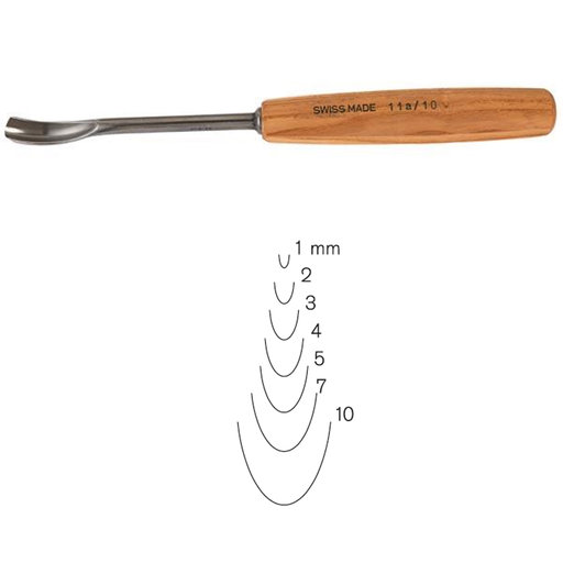 View a Larger Image of #11 Sweep Spoon Gouge 10 mm, Full Size