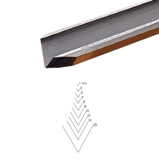 View a Larger Image of #12 Sweep V-Parting Tool, 20 mm, Full Size
