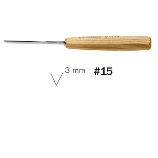 View a Larger Image of #15 Sweep V-Parting Tool 3 mm Intermediate Size