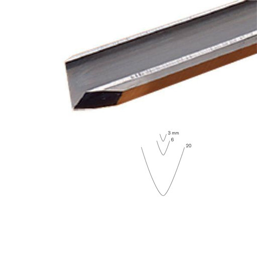 View a Larger Image of #17 Sweep Stahli V-Parting Tool, 20 mm, Full Size