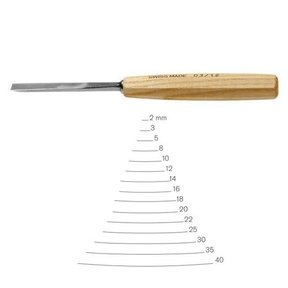 #3 Sweep Gouge 2 mm Full Size