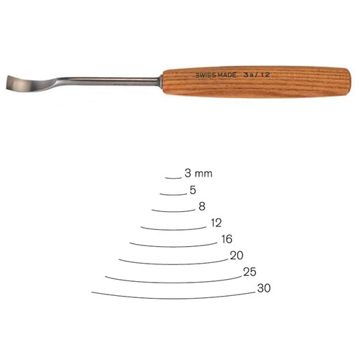 View a Larger Image of #3 Sweep Spoon Gouge 30 mm, Full Size