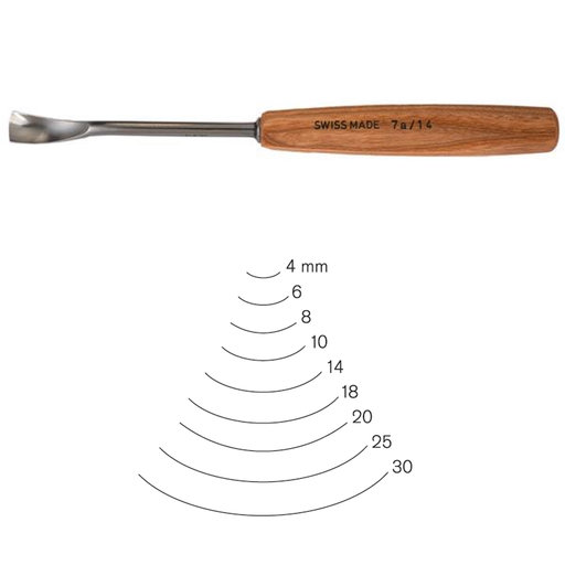 View a Larger Image of #7 Sweep Spoon Gouge 6 mm, Full Size