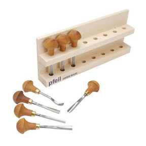 Palm Handled Carving Tool Set A, 8 piece