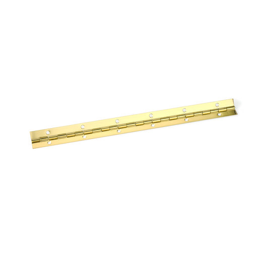 "View a Larger Image of Piano Hinge, Brass Plated 1-1/2"" x 12"""