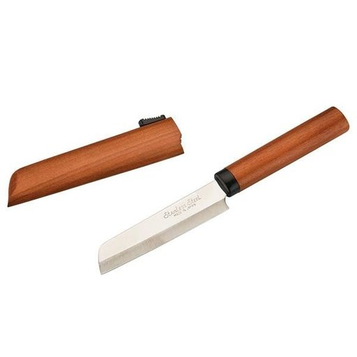 View a Larger Image of Picnic Knife with Wooden Scabbard 90mm