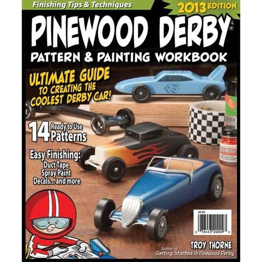 View a Larger Image of Pinewood Derby Pattern & Painting Workbook
