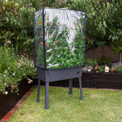 "View a Larger Image of Planter-Trellis Frame and Greenhouse Cover 15.75"" x 31.5"" x 63"""