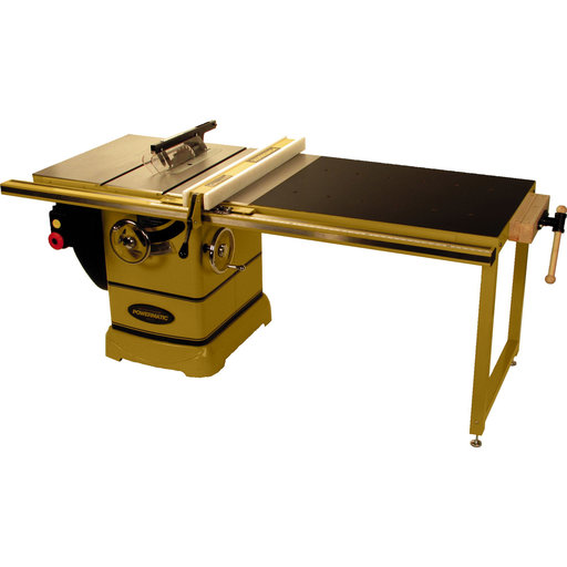 "View a Larger Image of PM2000 10"" Tablesaw, 5HP, 3Ph, 230V, 50"" Accu-Fence System and Workbench"