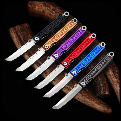 View a Larger Image of Pocket Samurai Keychain Knife - Purple