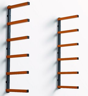 6 Shelf Wood Rack