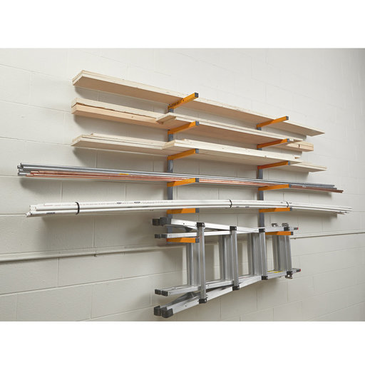 View a Larger Image of 6 Shelf Wood Rack