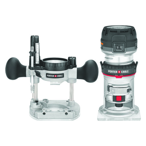 View a Larger Image of Porter-Cable 1.25HP Compact Router Fixed & Plunge Base Kit